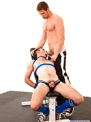 Two friends playing in a gym - Gay porn pics at GayStick.com