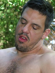 Rod leads JW to the deck where he begins to deep throat his tasty cock - Gay porn pics at GayStick.com