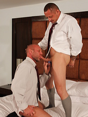 Sexy daddy Kyle Savage was paired with Chad Brock - Gay porn pics at GayStick.com