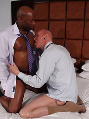 Business men, explore each other with tongue, lips, and hands - Gay porn pics at GayStick.com