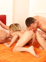 Miro Gody, Greorge Roy and Denis Klein - Gay porn pics at GayStick.com