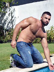 Araham Al Malek fucking debut where he plays the gardner of an angry villa-owner - Gay porn pics at GayStick.com