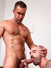 Lito picks up the pace and as the huge length of cock slides into stretched hole - Gay porn pics at GayStick.com