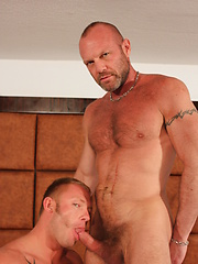 The tattooed blond bottom goes down on Chad, who now embraces his inner daddy - Gay porn pics at GayStick.com