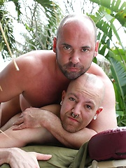 After an intense workout Tyler Reed needed a good massage by his outdoor pool - Gay porn pics at GayStick.com