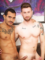 Troy is in a good position. As he rents out holiday flats, he's the first one to welcome sex - Gay porn pics at GayStick.com