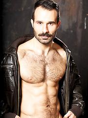 No one can resist dark and hairy Aybars his dashing moustache. Even butch Tomy is drawn willingly... - Gay porn pics at GayStick.com