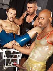 The depraved sex freaks Ale and Race work over hottie Sylvain, who's just as nasty as they are. ... - Gay porn pics at GayStick.com
