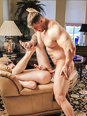 Betting his ass on a Pool Game - Gay porn pics at GayStick.com