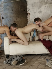 A Celebratory Gangbang Gets This Bunch Of Horny Beauties All Fucked Up & Spurting Spunk! - Gay porn pics at GayStick.com