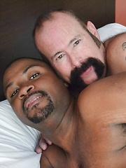 Smoking Hot Interracial Daddy-Son, Bear And Cub Scene - Gay porn pics at GayStick.com
