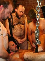 Raw 6-Man Gangbang - Gay porn pics at GayStick.com