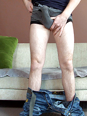 Shy boy plays with his cock - Gay porn pics at GayStick.com