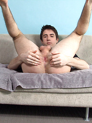 Twink plays with his ass & cock - Gay porn pics at GayStick.com
