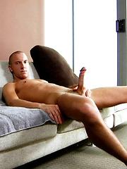 Skinny boy masturbates & cums - Gay porn pics at GayStick.com