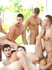 24 Boys Bareback Orgy Preview - Gay porn pics at GayStick.com