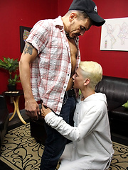 Taking Step-Dads Bareback Dick - Gay porn pics at GayStick.com