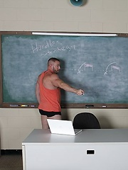 Coach Shay Michaels is ready to go over his new hurdle strategy, but first Dylan Knight needs some physical attention - Gay porn pics at GayStick.com