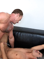 Andrew Markus revels at furry Roman Aleks muscular physique - Gay porn pics at GayStick.com