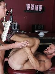 Muscle stud Landon Conrad seems to have a sweet spot for the young and hung Lucas Knight - Gay porn pics at GayStick.com