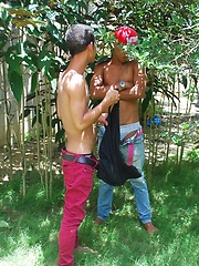action shoot with Edgar and Chico - Gay porn pics at GayStick.com