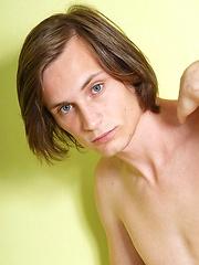Long-haired sweet boy Conrad - Gay porn pics at GayStick.com