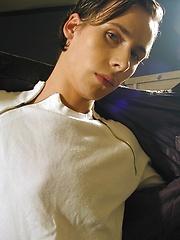 Sweet boy Victor jerks his uncut tower - Gay porn pics at GayStick.com