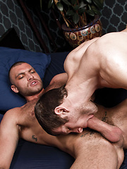 Vito Gallo Shoots His Big Load into Spencer Fox's Hungry Mouth - Gay porn pics at GayStick.com