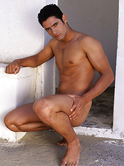 This Brazilian stud with a lean body and a huge 9 inch dick needs no Viagra to get it up and keep it hard for days in a row - Gay porn pics at GayStick.com
