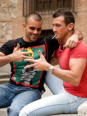 Watch Ettore mercilessly pound Damien, then ride his fat cock - Gay porn pics at GayStick.com