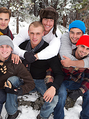 Mountain Getaway: Day 4.David, Tanner, Bryce, Andy, Coleman, Noel - Gay porn pics at GayStick.com