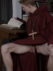 Brother Laarson Gets Two Cocks Up His Ass Before Getting His Face Splattered With Jizz! - Gay porn pics at GayStick.com