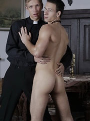 Two Horny Clerics Discover Nirvana In A Red Hot Bareback Flip-Flop Fuck! - Gay porn pics at GayStick.com