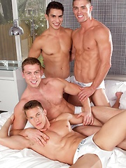 Falcon Studios - Connor Maguire, Ryan Rose, Lance Luciano & Darius Ferdynand - Gay porn pics at GayStick.com