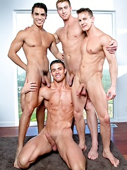 Falcon Studios - Connor Maguire, Ryan Rose, Lance Luciano & Darius Ferdynand - Gay porn pics at Gaystick
