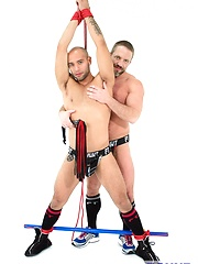 Bound Jocks - Dirk Caber Flogs Leo Forte