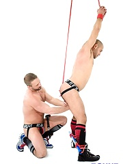 Bound Jocks - Dirk Caber Flogs Leo Forte - Gay porn pics at GayStick.com