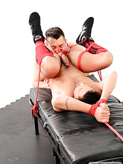 Bound Jocks - Jimmy Durano Tops Dominic Pacifico - Gay porn pics at GayStick.com