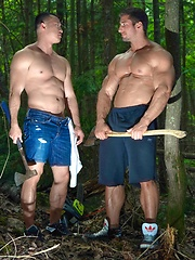 Men of Montreal – Gagging on The Lumberjack - Gay porn pics at GayStick.com