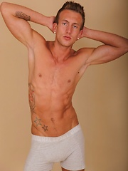 Gorgeous ripped stud Chorche busts his nut. - Gay porn pics at GayStick.com