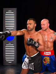 The gloves come off when Sean Duran coaches Micah Brandt in the boxing ring - Gay porn pics at GayStick.com