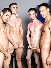The boys are back in the locker room dressing down before the big party - Gay porn pics at GayStick.com