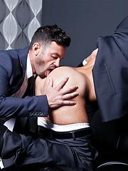 Valentino Medici Opens Adriano Carrasco's Suit Pants for a Fuck - Gay porn pics at GayStick.com