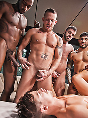 Jed Athens Takes Bareback Double Penetration for His Birthday Gift