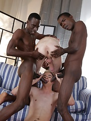 Two Horny White Bois Get Blacked - And One Gets His Cute, Hungry Ass Double-Dicked! - Gay porn pics at GayStick.com
