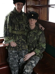 It's First-Class Travel All The Way As Benjamin Dunn Gives His Army Pal A Hard Raw Fuck! - Gay porn pics at GayStick.com
