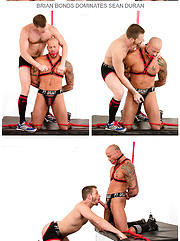 Bound Jocks - Brian Bonds Dominates Sean Duran - Gay porn pics at GayStick.com