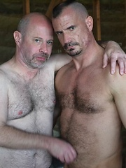 Jeffrey Huntwell and Christian Mitchell, A Classic Bear and His Wolf Power Bottom
