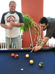 TJ Brown And Anthony Cox Have Bear Sex On A Pool Table - Gay porn pics at GayStick.com