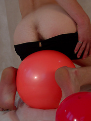 Blond twink Mark has fun with some balls on set, before getting his fat twink cock out for a play... - Gay porn pics at GayStick.com